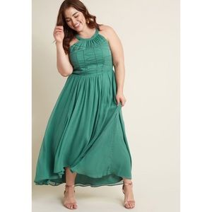 ModCloth Brave New Whirl maxi dress fern boho XL
